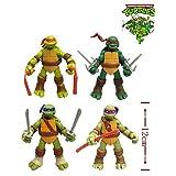 ANDP New 4 Pcs/Set 12cm TMNT Teenage Mutant Ninja Turtles Action Figure Anime Model PVC Classic Toys For Kids Collection