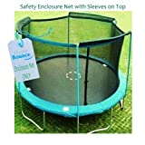 15' Trampoline Enclosure Safety Net Fits For 15 FT. Round Frames Using 4 Arches, with Sleeves on top (poles not included) by Upper Bounce