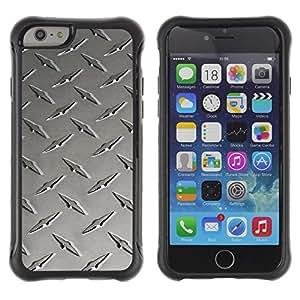 Pulsar Defender Series Tpu silicona Carcasa Funda Case para Apple iPhone 6(4.7 inches) , Metal nail texture
