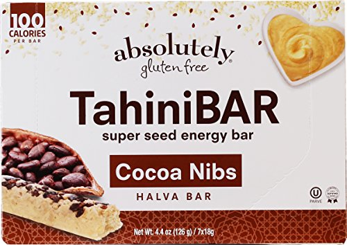 Absolutely Gluten FreeTahiniBAR Super Seed Energy Halva Bars with Cocoa Nibs, 7 count (2 Pack)