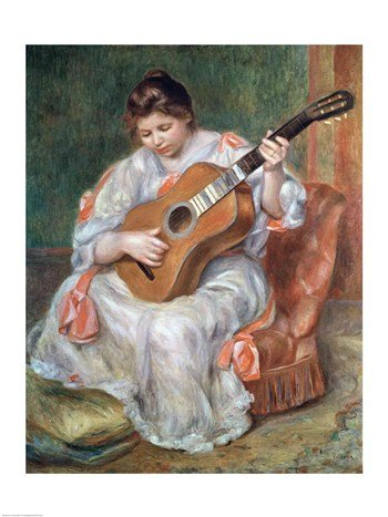 (The Guitar Player 1897 Poster Print by Pierre-Auguste Renoir (18 x 24))