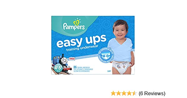 0d64fba16b44 Amazon.com  Pampers Easy Ups Training Pants Pull On Disposable Diapers for  Boys Size 6 (4T-5T)