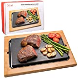 Cooking Stone- Lava Hot Stone Cooking Platter and Cold Lava Rock Hibachi Grilling Stone w Bamboo Platter is the perfect way to cook meat, fish, vegetables and more right at the dinner table. Just heat your steak stone in the oven, remove and place on...