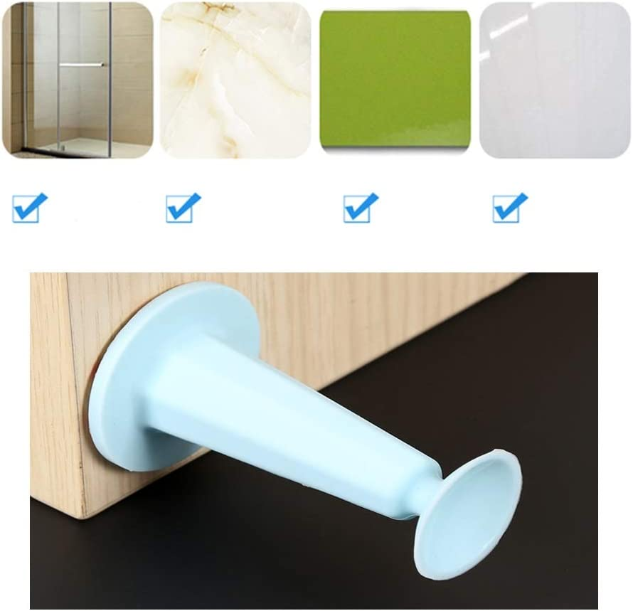 AWYDHC Silicone Anti-Collision Door Suction Mute Wall Mount Door Stop No Drill Door Stopper Wall Protector for Bedroom Office Bathroom 4PCS