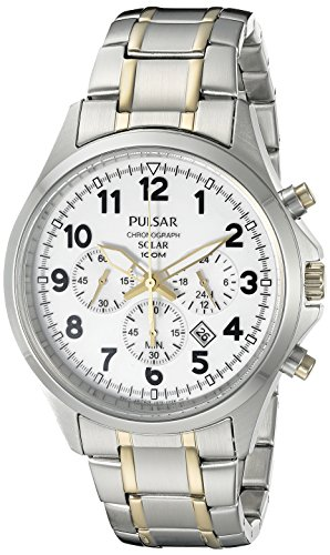Pulsar Men's PX5041 Solar Chronograph Analog Display Japanese Quartz Two-Tone Watch
