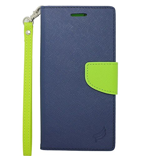 iPhone 6 Plus/6s Plus Case, Insten Stand Folio Flip Leather [Card Slot] Wallet Flap Pouch Case Cover for Apple iPhone 6 Plus/6s Plus, Dark Blue/Green