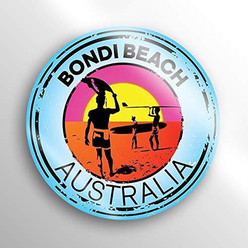 (JMM Industries Bondi Beach Australia Vinyl Decal Sticker Car Window Bumper 2-Pack 3-Inch Round Premium Quality UV Protective Laminate PDS1517)