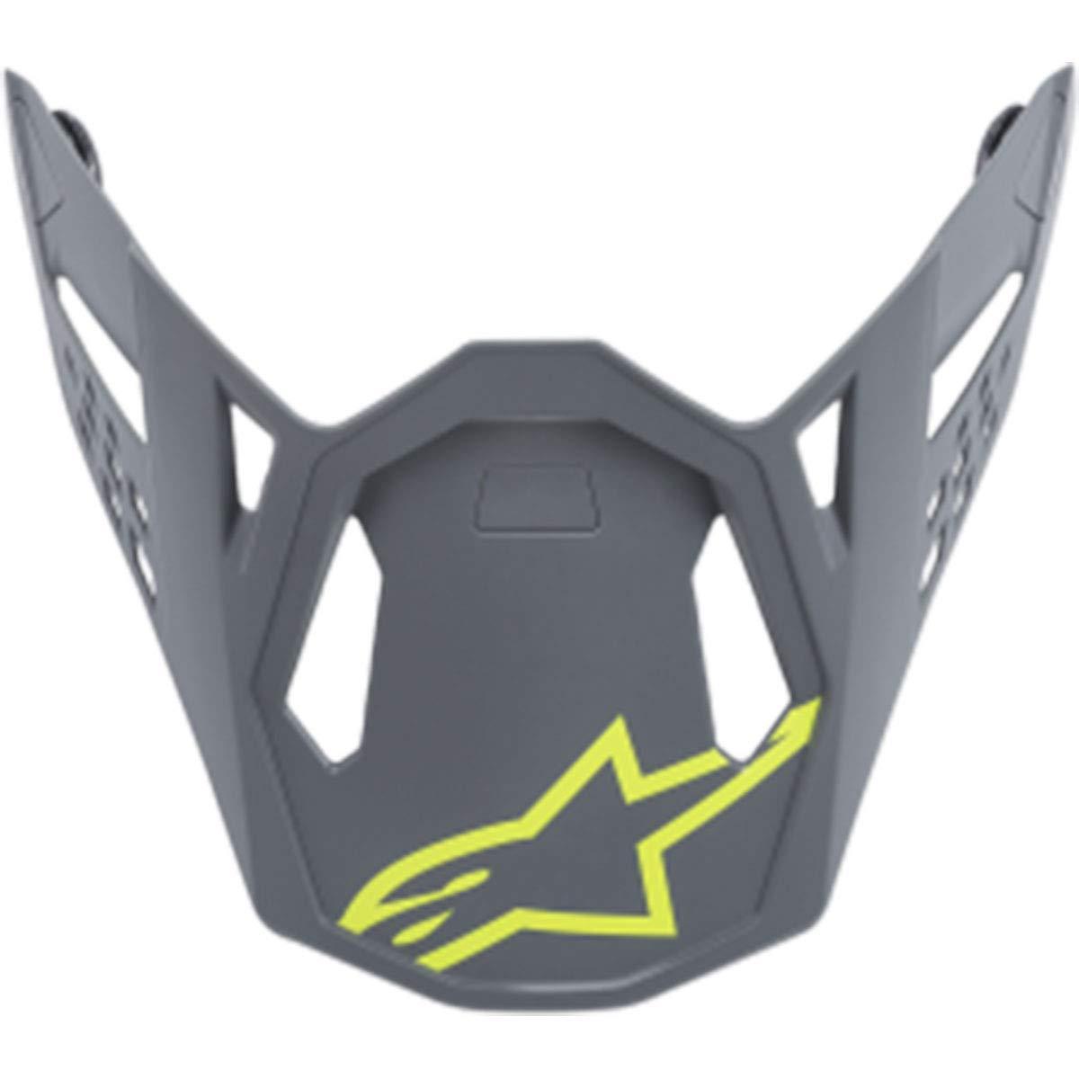 Alpinestars Supertech M8 Radium Visor Off-Road Motorcycle Helmet Accessories - Matte Gray/Fluorescent Yellow/One Size