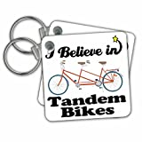 Dooni Designs I Believe In Designs - I Believe In Tandem Bikes - Key Chains - set of 2 Key Chains (kc_105585_1)