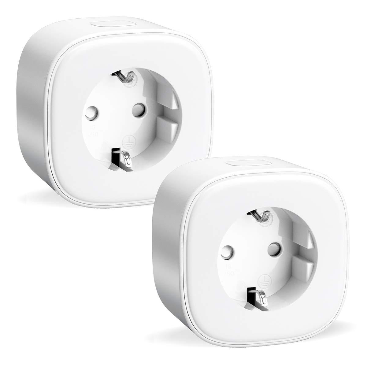 Pack de 2 enchufes inteligentes con Wi-Fi (16A 3680W) mide el consumo