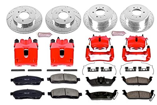 - Power Stop KC1944A 1-Click Performance Brake Kit with Calipers, Front & Rear