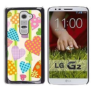 - Hearts Love Candy Valentines/ Duro Snap en el tel??fono celular de la cubierta - Cao - For LG G2