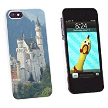 Graphics and More Allgau Neuschwanstein Fairy Castle Mountains Snap-On Hard Protective Case for Apple iPhone 5/5s - Non-Retail Packaging - White