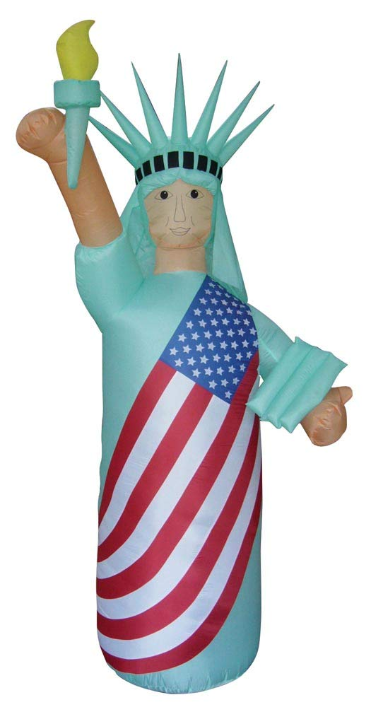 Air Blown Inflatable 8' Patriotic Statue of Liberty Skin Color Yard Decoration