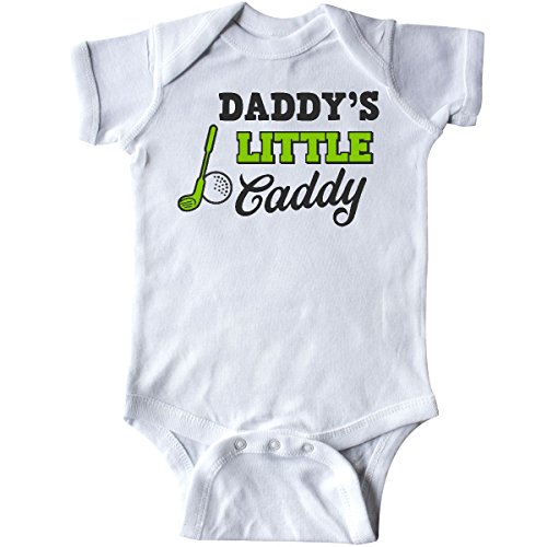 inktastic - Daddy's Little Caddy with Golf Infant Creeper 6 Months White 2c58e
