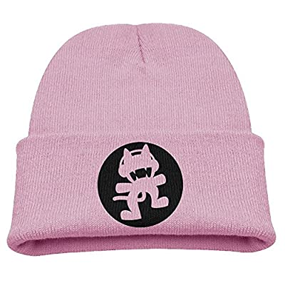 SHEAKA Monstercat Music Baby's Knitted CampingHats Pink For Autumn And Winter