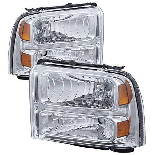 Ford F250/350/450 Super Duty Crystal Headlights Chrome Housing With Clear Lens