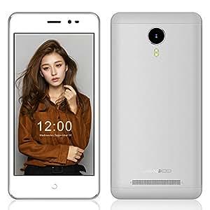 EasySMX Leagoo Z5C Teléfono Inteligente Smartphone 5.0 Pulgadas Soporta Android 6.0 3G SC7731c Cortex A7 Quad Core a 1.3GHz con 1GB RAM + 8GB ROM GSM & WCDMA Doble SIM Tarjeta (Blanco)