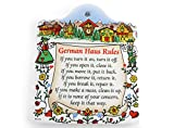 German House Rules Porcelain Cheeseboard with Cork Backing