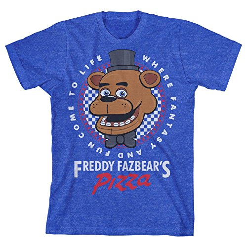 Five Nights At Freddys Pizza Boys Youth T-shirt Licensed (Medium)