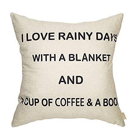 Enid40Bru I Love Rainy Days A Blanket A Cup Coffee A Book Linen Home Interesting Book Lovers Throw Blanket