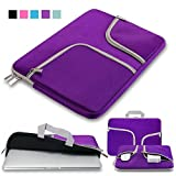 Laptop Sleeve Case Bag 11.6-12.5 Inch,IC ICLOVER Waterpoof Protective Cases Bag Carry Pouch Cover Handbag for Macbook Air 11/Mac 12, Notebook Acer Dell Lenovo HP Samsung Toshiba Chromebook 11'-Purple