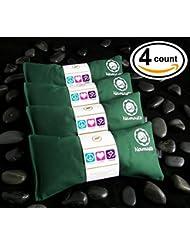 Happy Wraps® Yoga Lavender Eye Pillows - 4 Pieces - Green Cotton