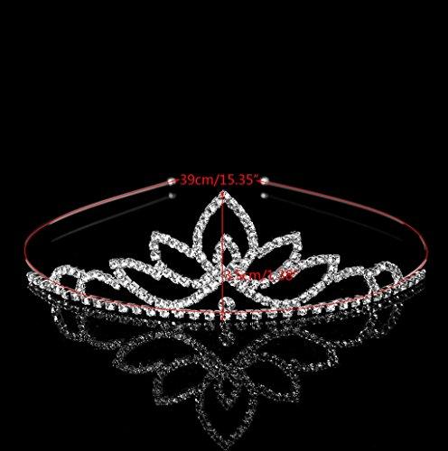 Dairyshop Festa di nozze diadema della principessa Crown fascia con strass Accessori per capelli