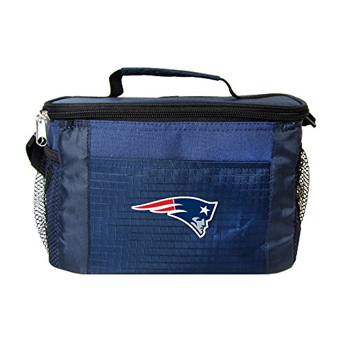 NFL New England Patriots Team Logo 6 Can Cooler Bag or Lunch Box - (New England Patriots Lunch Box)