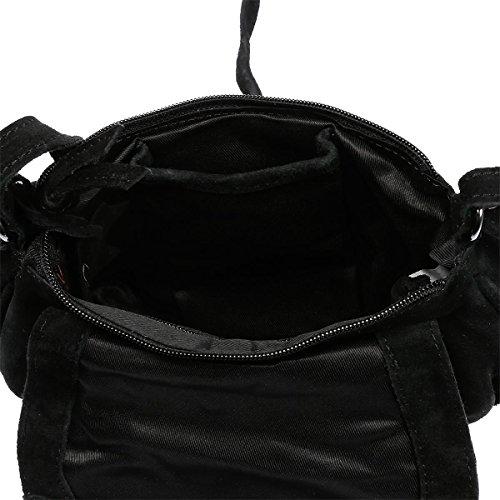 Christian Wippermann® - Bolso cruzados para mujer negro negro 22x18x5 cm gris