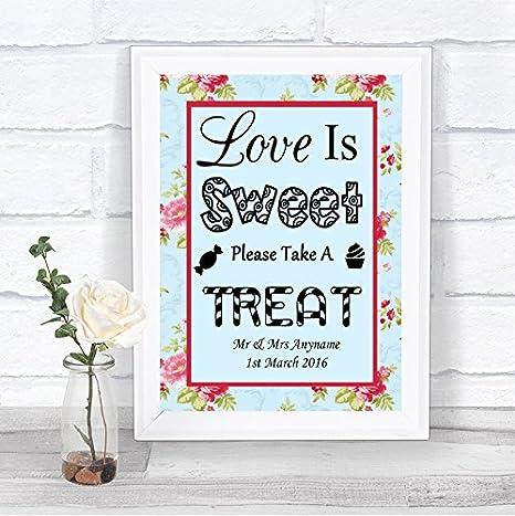 Amazon.com: Shabby Chic clásico Floral amor es dulce Barra ...