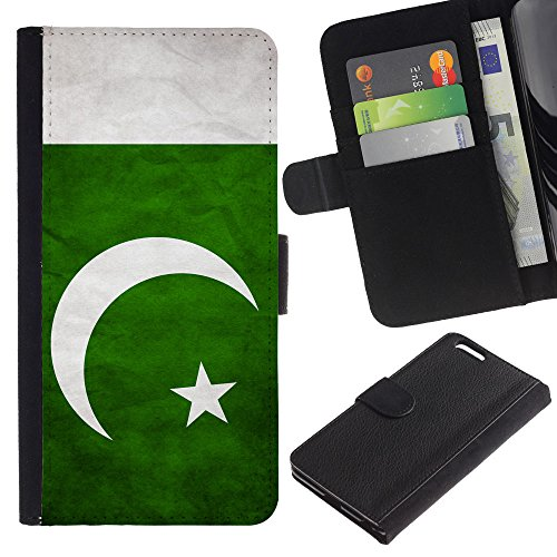 EuroCase - Apple Iphone 6 PLUS 5.5 - Pakistan Grunge Flag - Cuir PU Coverture Shell Armure Coque Coq Cas Etui Housse Case Cover