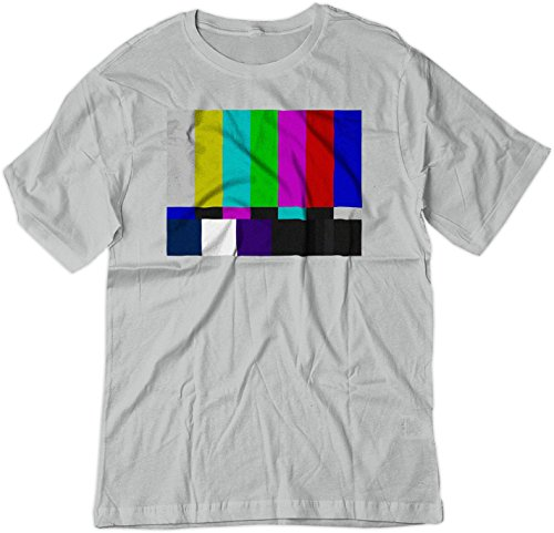 BSW Youth No Channel Color Bars Vintage Big Bang Theory Shirt XL Silver