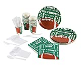 football decoration for party - Disposable Dinnerware Set - Serves 24 - Football Party Supplies - Includes Plastic Knives, Spoons, Forks, Paper Plates, Napkins, Cups