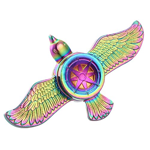 Sandalas Rainbow Flying Eagle Hand Spinner Fidget Toy Metal EDC Focus Relieves Anxiety and Boredom Decompression Toy