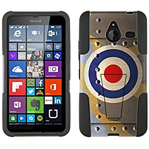 Microsoft Lumia 640 XL Hybrid Case Royal Air Force War Plane Fuselage 2 Piece Style Silicone Case Cover with Stand for Nokia Lumia 640XL