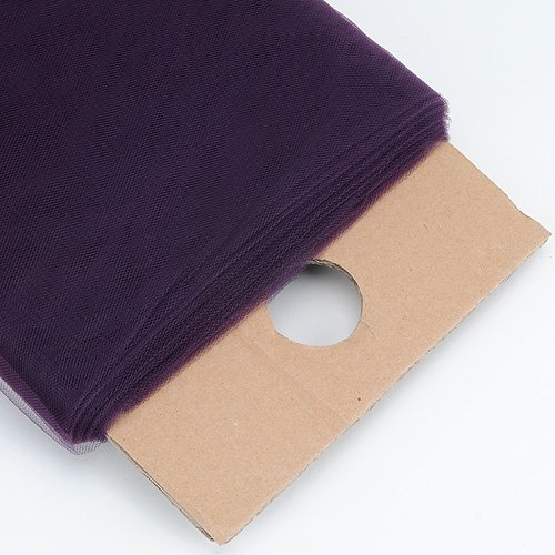 BBCrafts Plum Tulle Fabric Bolt, 54