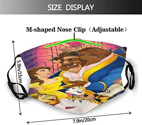 MIGAGA TRUE LOVE'S TALE BEAUTY AND THE BEAST MEN/WOMENS COVERS DUST-PROOF BREATHABLE SURVIVAL GAME CLASSIC REUSABLE