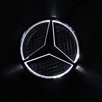 Bearfire LED Emblem Logo Grid LED Badge Front Light For Mercedes Benz A/B/C/CLS/E/GLK/GL/R Series (white, not transparent grid): Automotive