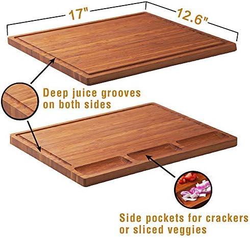 tabla de madera grande de 44,8x30x2 cm para la cocina tabla de madera antibacteriana Loco Bird Tabla Cortar Cocina de bamb/ú macizo con ranura de jugo Tabla de Cortar Madera para Cocina