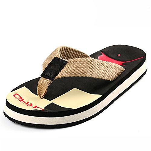 Summerwhisper Heren Duurzaam Antislip Strand Slippers Platform Teenslippers Flippers Zwart