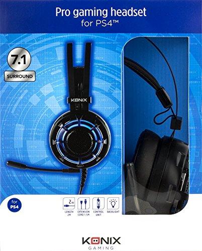 Konix - Auriculares de gaming Pro 7.1 U 800 (PS4) (PlayStation 4): Amazon.es: Videojuegos