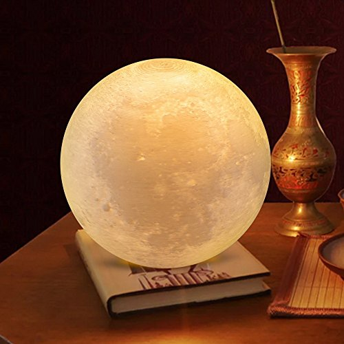 Night Lights, Brightworld 3D Printed Moon Lamp, Two Tone U0026 Touch Control U0026  Dimmable LED Lunar Lamp For Indoor Lighting, USB Charging, Perfect  Christmas ...