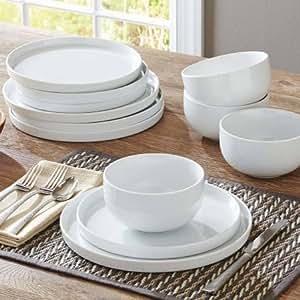 Better Homes And Gardens Modern Rim 12 Piece Dinnerware Set White Dinnerware Sets