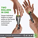 Gaiam Wellbeing Finger Massager Dual-Sided Hand