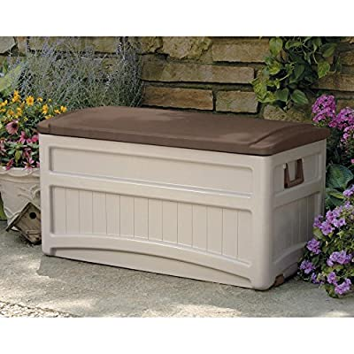 Suncast Morel Premium 73-Gallon Deck Box with Wheels - DB8000B