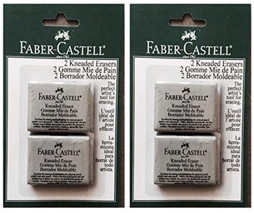 Faber Castell 2-Pack - Large Kneaded Eraser 2 Erasers per pack (4 Total Erasers) by Faber Castell