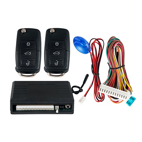 EASYGUARD KE02-YZ Car keyless entry system with remote lock unlock remote trunk release central door locking With uncut HAA blank key blade - Central Lock Remote