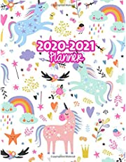 2020-2021 Planner: Two Year Calendar Organizer and Goal Journal | January 2020 - December 2021 Daily, Weekly and Monthly Planner Book with Back Sticker Expression Wall for 2 Years | Design Code 00037