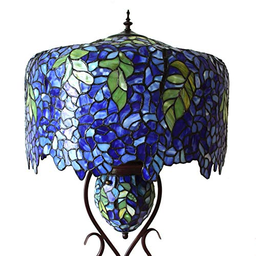 Bieye Tiffany Style Floor Lamp with Double Lit